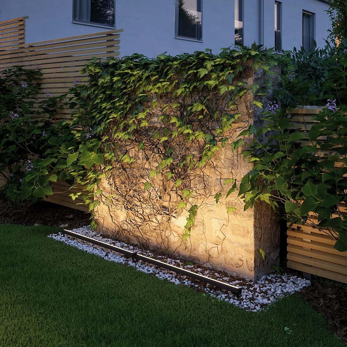 Alt ülesse valgustatud müür - Paulmann Plug & Shine Light Bar Floor Light LED
