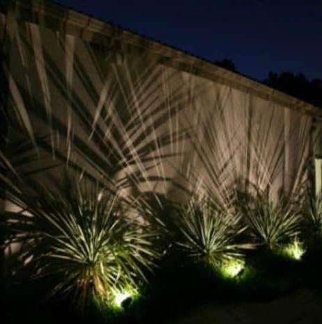 Efektvalgus aiamüüril