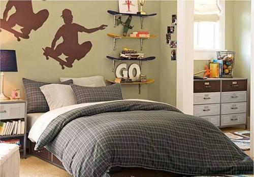 Предлагаем Вашему вниманию фото интерьеров комнат для парней-подростков...